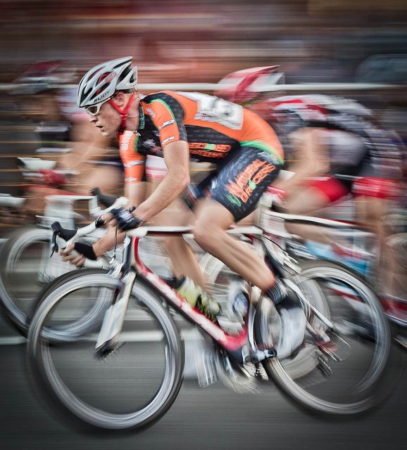 Russell Harding riding at the Twilight Criterium | Credit: Kevin Rank