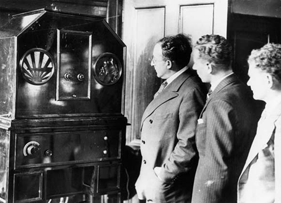 The first BBC television transmissions, September 1929. | Credit: Science Museum