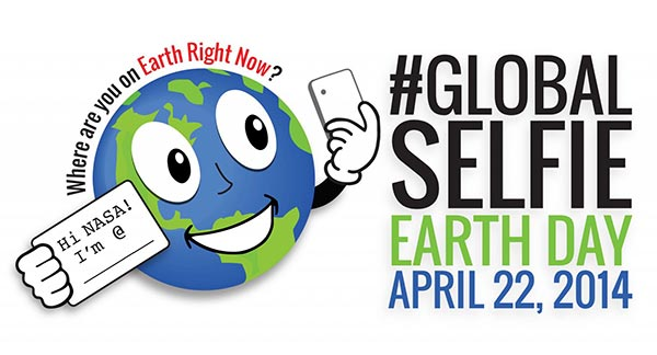 NASA's Global Selfie for Earth Day graphic