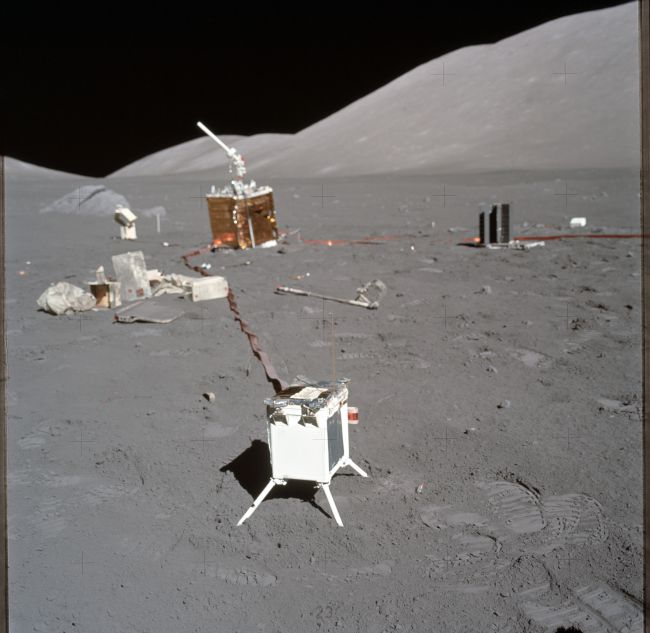 Space Trash on the Moon | Credit: NASA