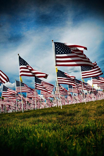 Memorial Day Flags | Credit: Kevin Rank -- https://www.flickr.com/photos/ryfter/3561799210/