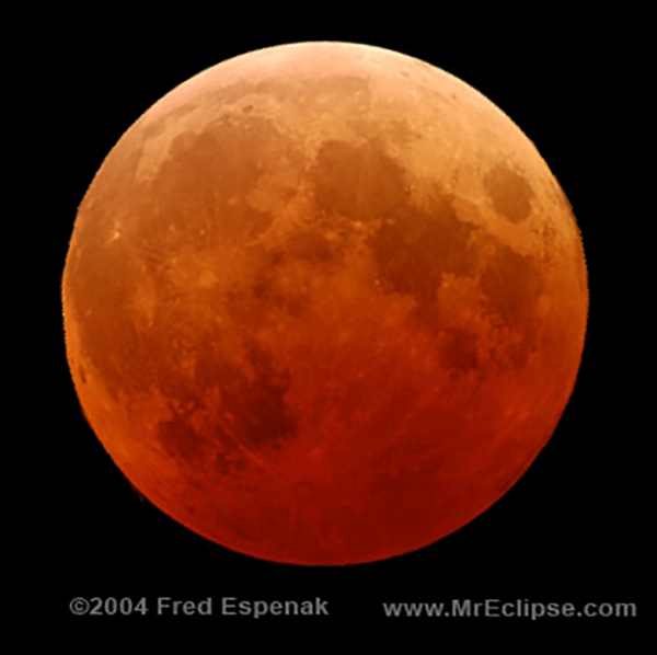 Blood Moon | Credit: FrauBucher (http://en.wikipedia.org/wiki/File:Oct_28_2004_total_lunar_eclipse-espenak.png)