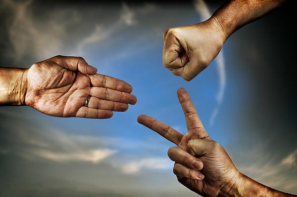 Rock Paper Scissors [Credit: Helmut Hess | https://www.flickr.com/people/helmuthess/ ]