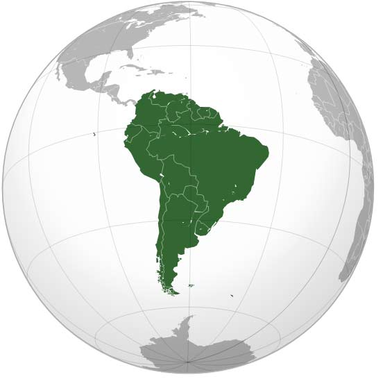 South America | Credit: Wikipedia