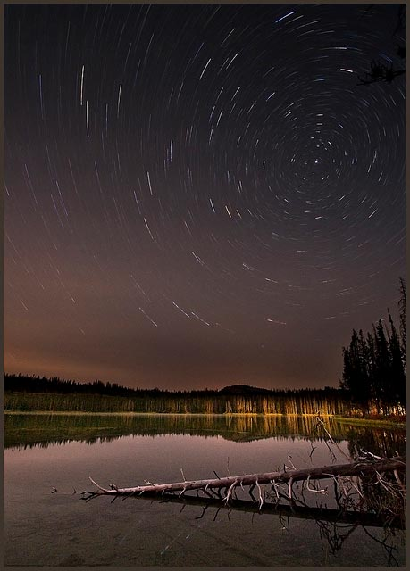 Little Redfish star trail with moon light [Credit: Charles Knowles | https://www.flickr.com/photos/theknowlesgallery/6213067900/]