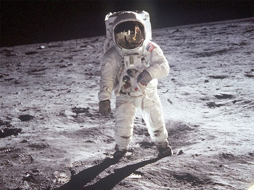 Astronaut on the Moon - Credit: NASA
