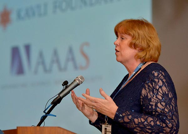 Joan accepting award