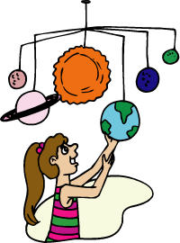 Girl with Planets