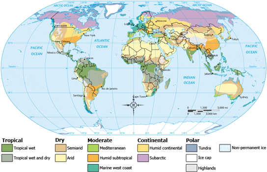 climate zones world
