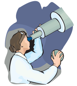 Woman Looking through Telescope