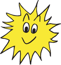 Smiling sun illustration