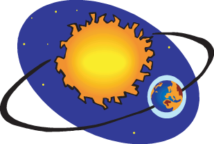 Earth orbiting the sun