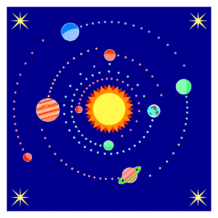 Sun and Orbit illustration
